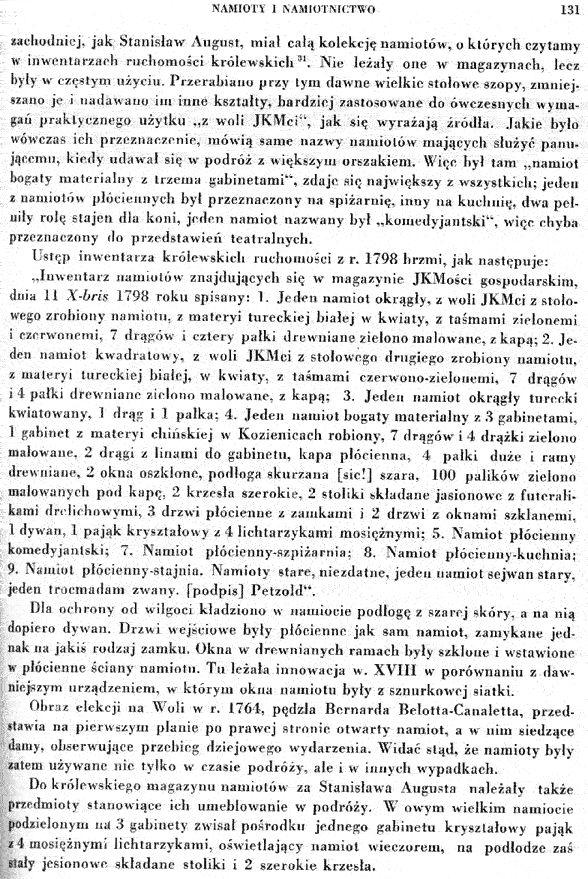"""17. Rozdział o namiotach - Z książki Tadeusza Mańkowskiego """"Polskie tkaniny i hafty XVI-XVIII wieku"""""""