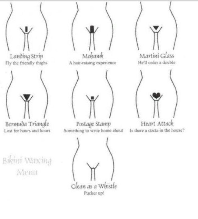 Bikini shave designs