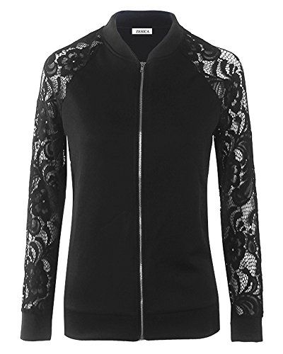 Long-Sleeved Lace Jacket Round Neck Pure Color For Autumn Winter 25e5459b4