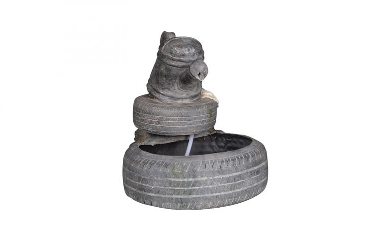 Watering can with Tyres water feature. Our enormous on-site warehouse in Perth is continually stocked with water features, meaning you can find what you love and take it home today! Drovers inside and out.