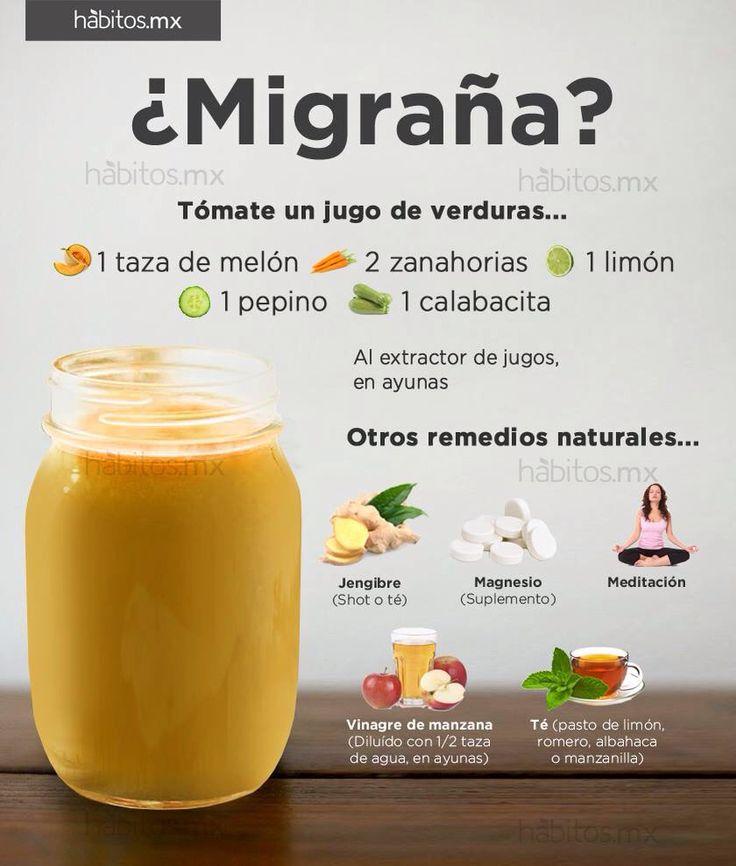 ¿Migraña? Tómate un Jugo de verduras / vía Hábitos.mx
