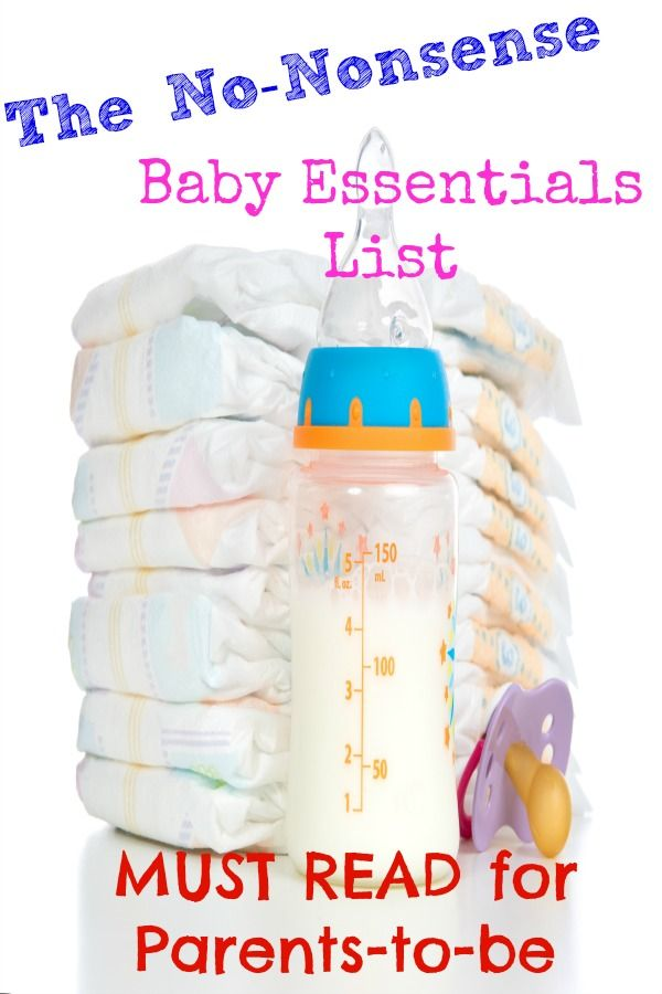 """Here's a real baby essentials list -- the bare minimum you need to get by! Though I do throw in some of my favorite """"non-essentials"""" at the end!"""