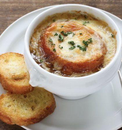 Receta de Sopa a la Francesa Vegetariana
