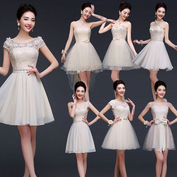 Lc466m baratos partido corto elegante modesto vestido de fiesta moda los vestidos de bola nuevo dulce 16 vestidos 2016 atractivo debajo de 50 para adolescentes(China (Mainland))
