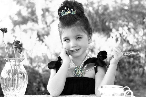 Little girl Audrey Hepburn halloween. love.