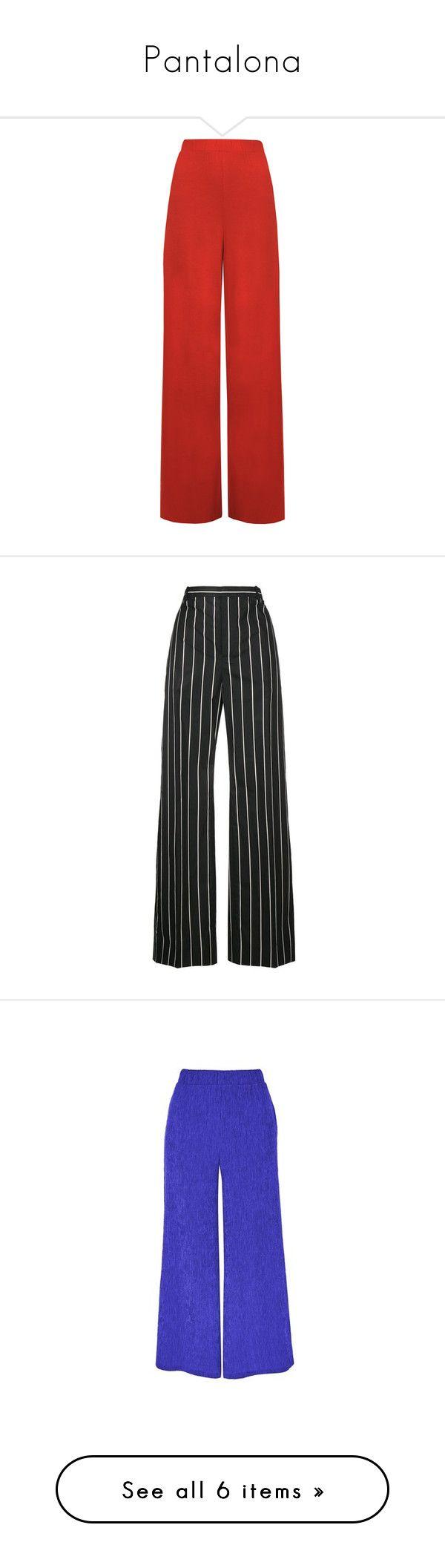 """Pantalona"" by rafakeka on Polyvore featuring pants, bottoms, pantalones, trousers, red, wide leg palazzo pants, plus size wide leg pants, women's plus size pants, red wide leg pants e flared trousers"