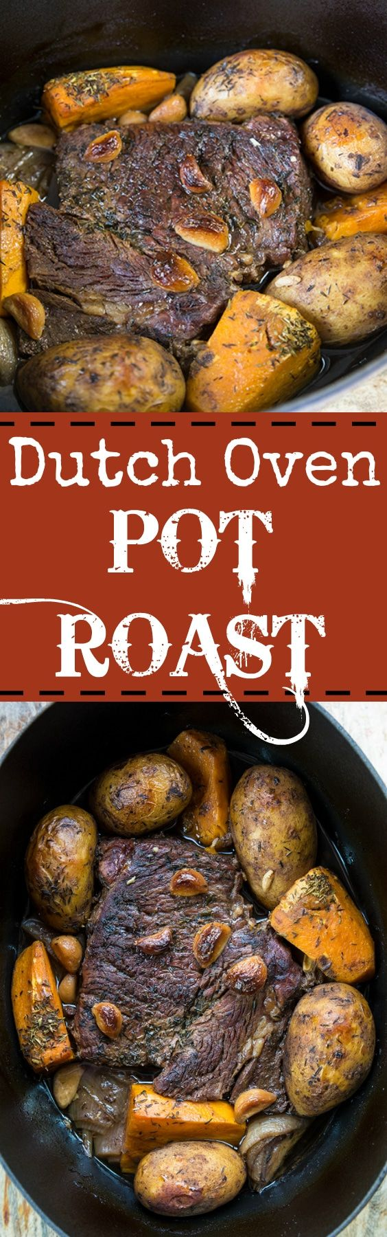 How to make a Dutch Oven Pot Roast. It turns out perfect every time! From @kitchenmagpie