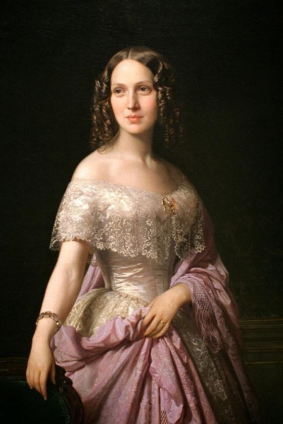 MADRAZO  Elizabeth Wethered Barringer. 1852. Óleo sobre lienzo, 142.2 x 99.7 cm. Ackland Art Museum. Universidad de Carolina del Norte. USA