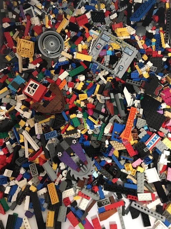 Authentic Lego 1//2 Pound Mixed Lot ~ Yellow Bricks Plates /& Parts