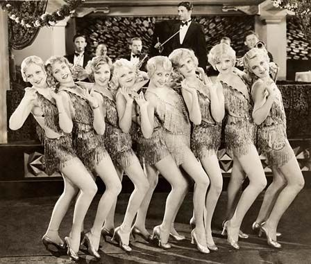 Vintage Fashion - 1920's chorus line