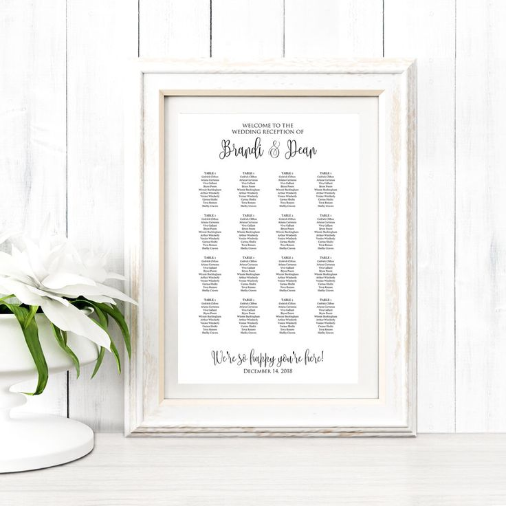 78 Best Seating Chart Templates Images On Pinterest | Wedding