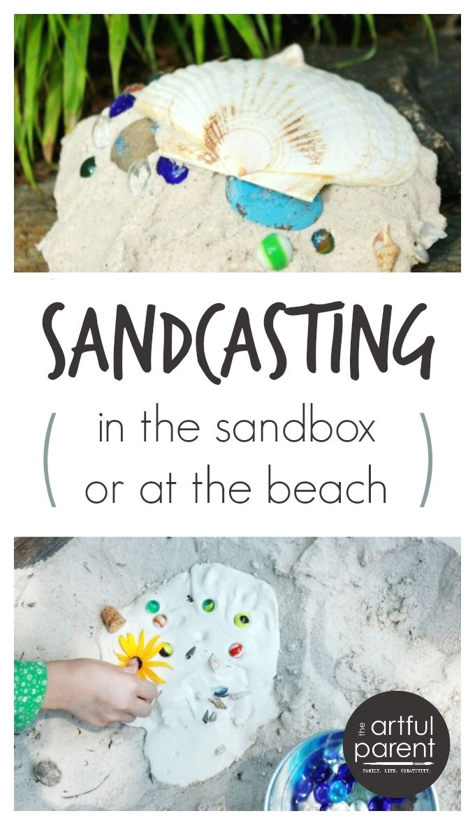 Have you tried casting plaster shapes in sand yet? We've done sandcasting at the beach a couple of timeswith great success, digging a hole in the sand, lining it with shells, rocks, and other found treasures, then filling the hole with plaster. It's fun when you need a break from the water and the result...Read More »