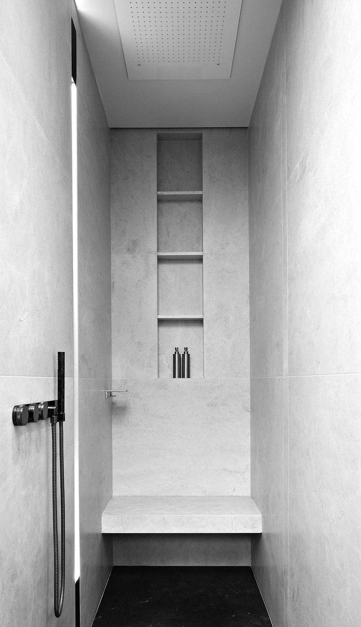 | DETAILS | #Master Ensuite - Photo Credit: #HÉLÈNE&OLIVIERLEMPEREUR | #HotelParticulierCharlesDickens - lovely floating bench & niche detail
