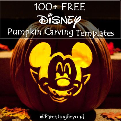 @Parentingbeyond 100+ FREE Disney Halloween Pumpkin Carving Stencil Templates w/ Images!  #Frozen #StarWars #Marvel  #Princesses