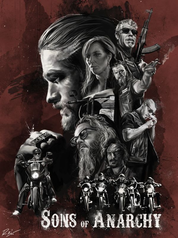 Sons of Anarchy - Illustrated Poster by Robert Bruno, via Behance