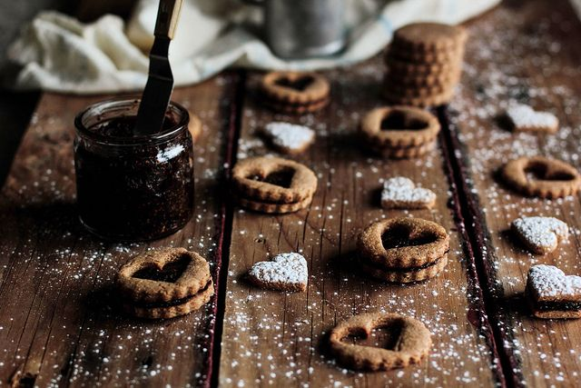 Very Classy! Toasted Almond Cookies with Dried Fig Filling and whole wheat flour