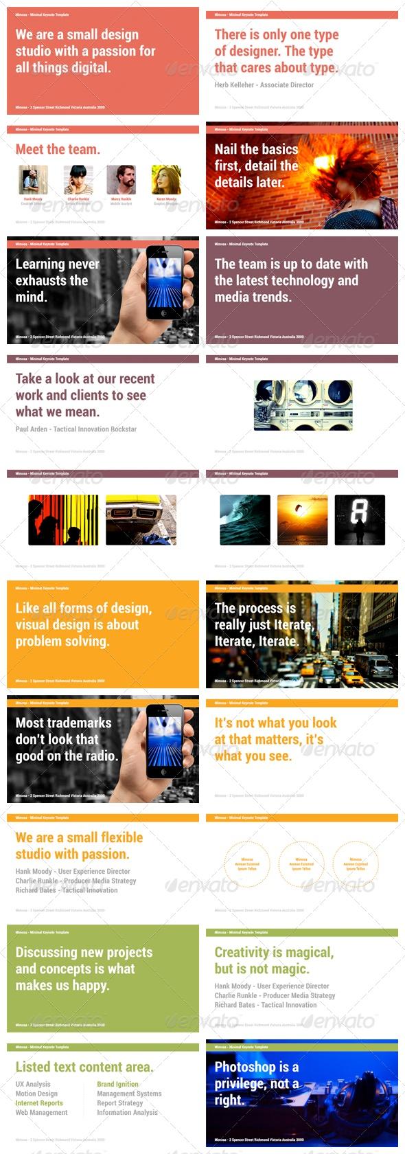 106 best presentation design images on pinterest presentation mimosa keynote presentation template toneelgroepblik Gallery