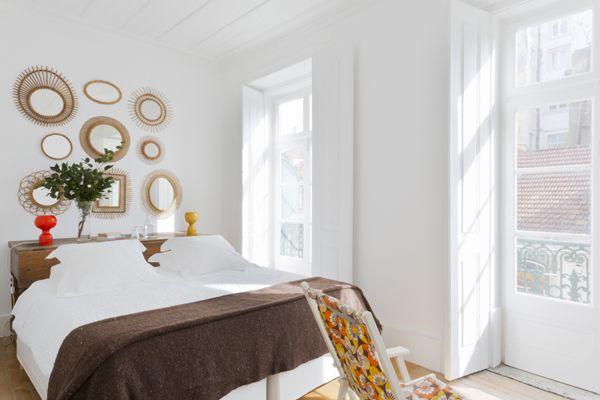 Bedroom of Campo Grande apartment, Baixa House, Lisbon www.baixahouse.com