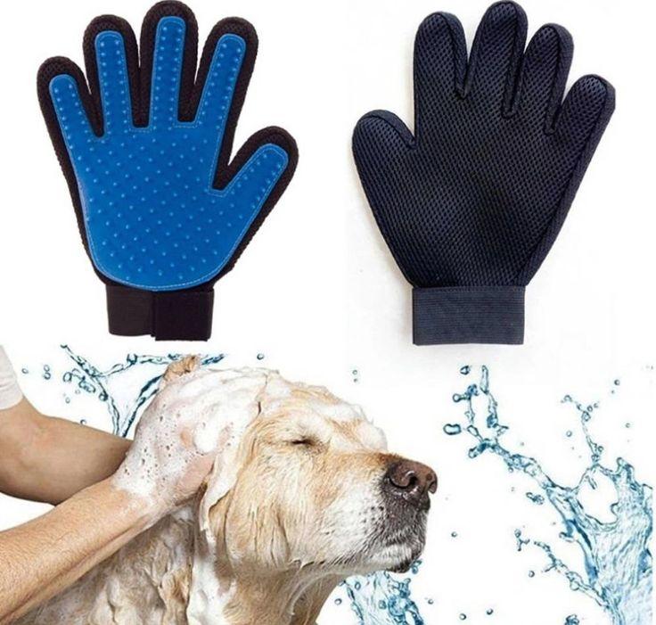 pet  grooming Dog cat shedding glove rubber brush comb bath
