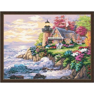 Картина-раскраска по номерам «Дом у маяка» | MG115