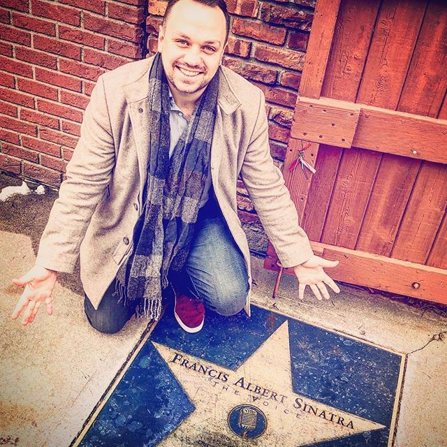 Surreal! Being on the spot where my greatest idol Frank Sinatras childhood home used to stand! Wow! What a treat!!