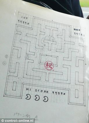 Japanese inventor of Pac-Man reveals his original sketches of the iconic video game