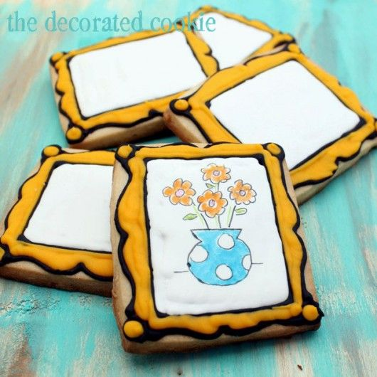 "Cookie ""canvases"" for an art themed party"