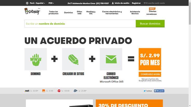 Página para comprar dominios
