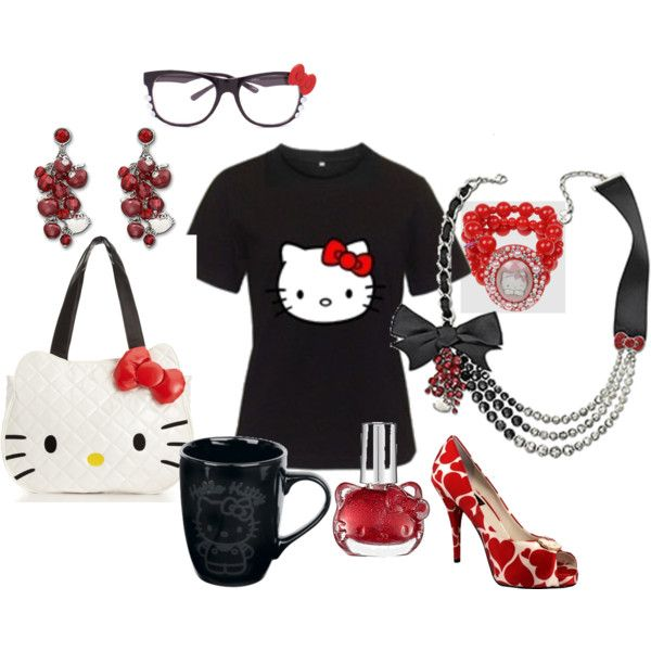 Hello Kitty work outfit, created by little-ec.polyvore.com