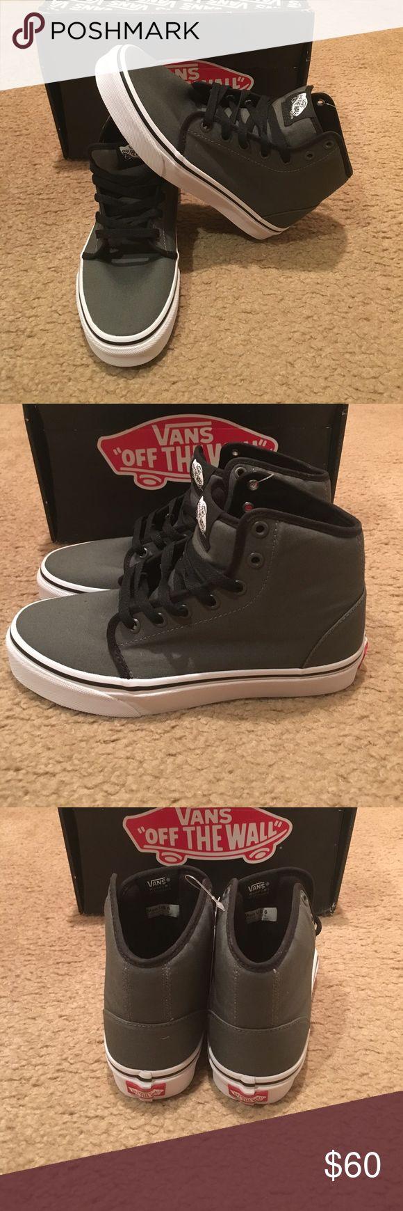 Vans 106 Hi Sneakers New in box. Gunmetal/True White Vans Shoes Sneakers