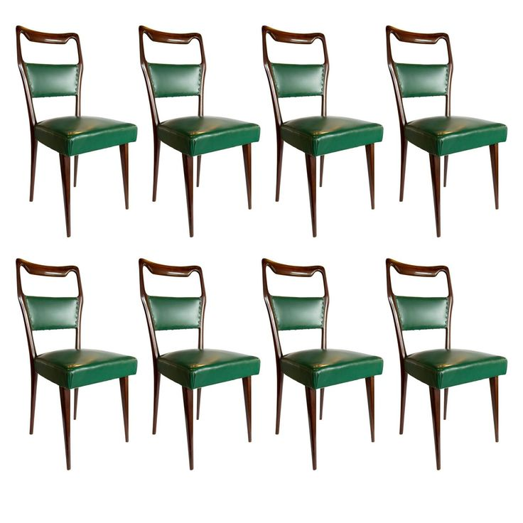 Set Of Eight Italian Dining Chairs By Paolo Buffa 1940s