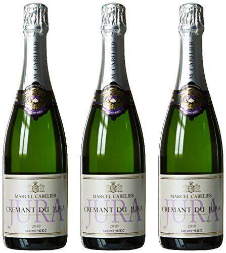 MARCEL CABELIER Crémant du Jura Demi Sec AOP 75 cl 2010 – Lot de 3: minérale avec de grosses bulles fines nez brioché au parfum de beurre…
