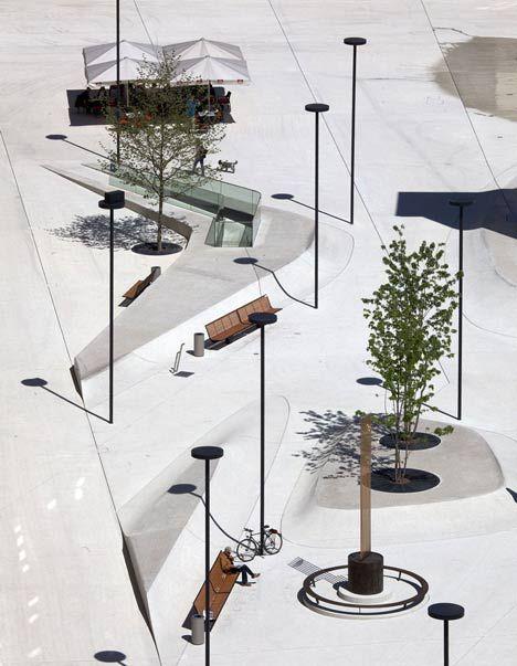 New Design for Eduard-Wallnöfer-Platz  (Landhausplatz) in Innsbruck, Tyrol by LAAC Architekten and Stiefel Kramer Architecture