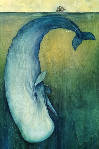 Moby Dick- thank you, Herman Melville, for telling us the truth we never wanted to know...