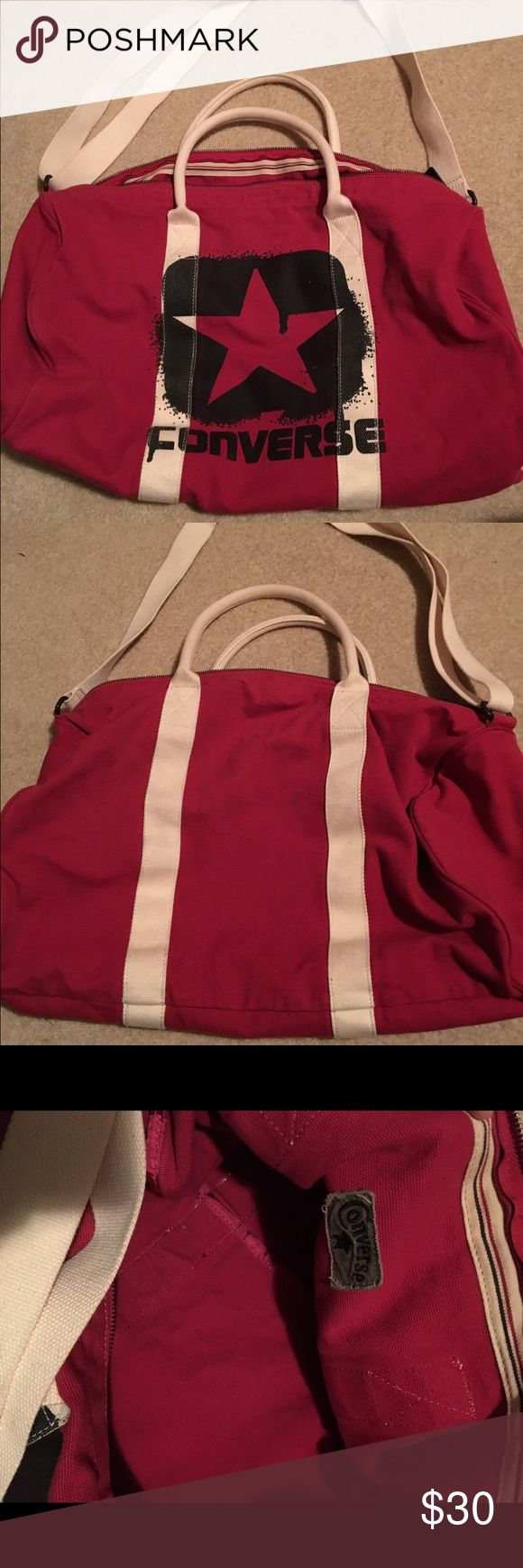 Converse duffel bag Converse duffel bag. Lightly used. No stains or damages Converse Bags Travel Bags