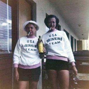 Yes, the USA drinking team was a real Olympic team.