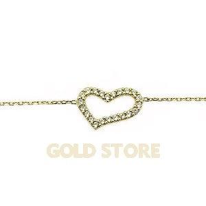 14 Ayar Altın Kalp Bileklik GB10037