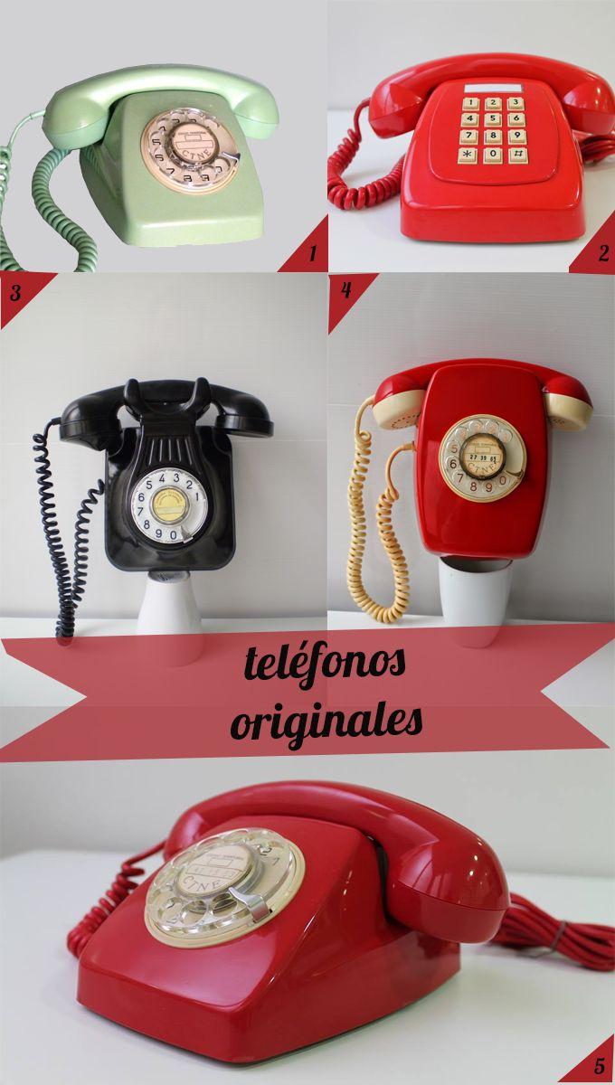 Una selección de teléfonos vintage para darle un toque diferente a nuestro hogar bonitista