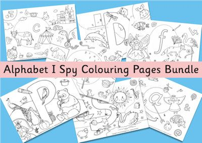 Print and color there wonderful I Spy alphabet coloring pages. There's so much detail and fun pictures to spot, they will keep the kids busy for a while!