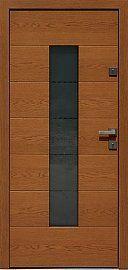 Drzwi dębowe wzór 466,2+ds11 w kolorze ciemny dąb