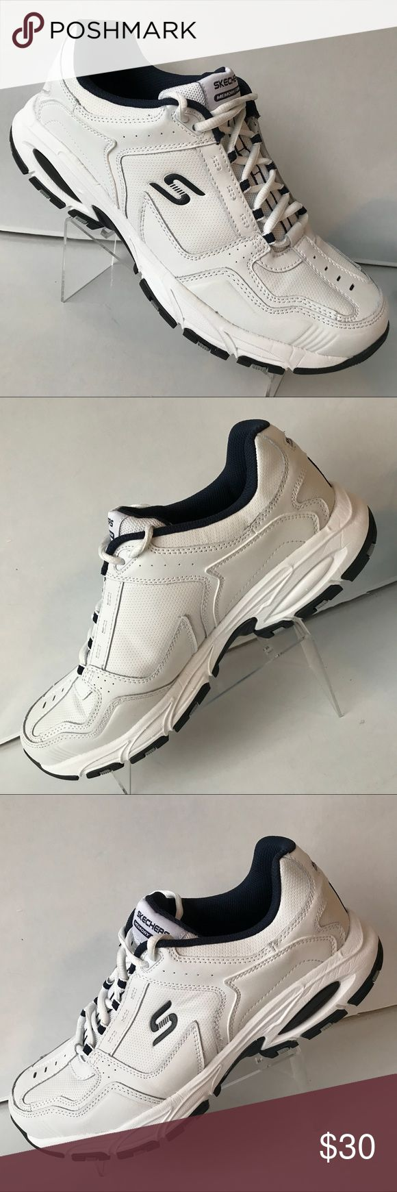 Store Sample Men's Athletic Shoes Skechers Sport Memory Foam White/navy Freefall Stanza Shoes SZ 11~STORE SAMPLE~ Skechers Shoes Sneakers