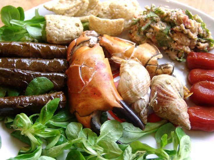 Verse krabpoten met wulken van de Haagse Markt -