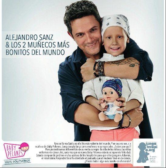 Alejandro Sanz y muñeco baby pelones 2015. #navidad2015