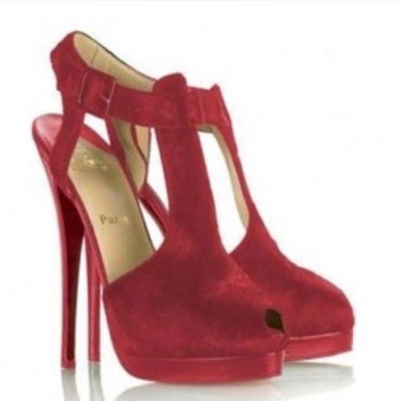 Christian Louboutin Orlan Platform T-Strap | Peep Toe Heels ...