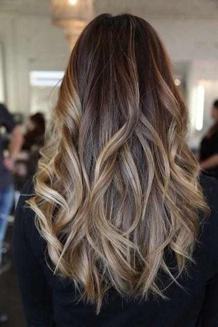 Ombre hair- castaño oscuro ceniza a rubio oscuro ceniza.Ese quiero