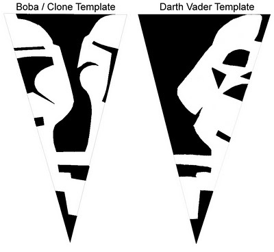 Star Wars snowflake template- this will get Nate to cut snowflakes with me!