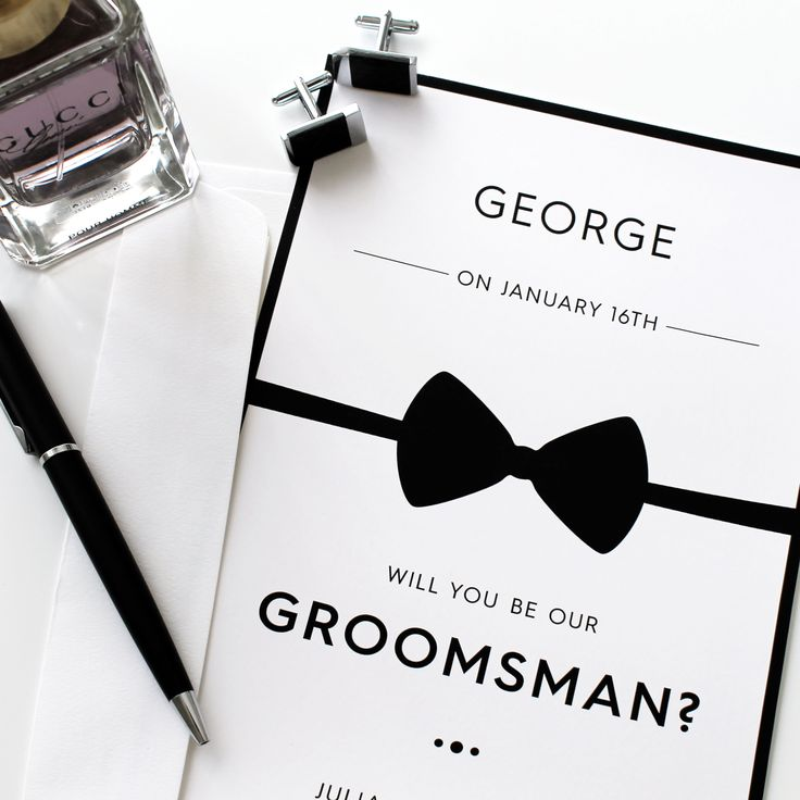 Personalised #groomsman card for wedding party designed by @belle