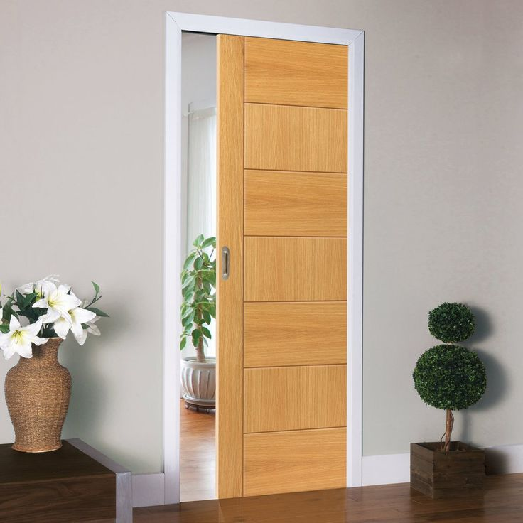 Single Pocket Brisa Sirocco Oak sliding door system in three size widths.  #internalpocketdoor #oakpocketdoor #jbkslidingpocketdoor