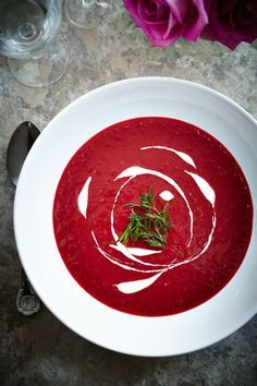 In Poland, beetroot soup is served on special occasions. But I like to prepare it every once in a while because it's easy and it tastes great. Prepare yourself for a little surprise when you use the bathroom one day after having eaten beetroot ;)