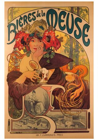 Beer poster and one of my favorite artists?  Yes please.  But which room would it go in?